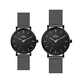 Carlo Cantinaro Black Stainless Steel CC3001SM001 Women's Watch