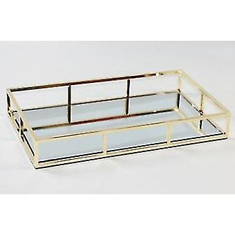 Household storage containers vintage metal glass storage box gold tray |storage trays