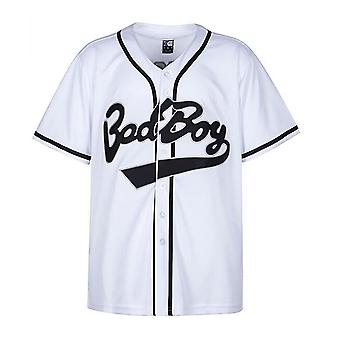 Maillot de baseball Bad Boy hommes, Chemise 10 Smalls Femmes, Vêtements noirs pour hommes, Maillot de baseball Hip Hop des années 90, Robe Jersey de baseball