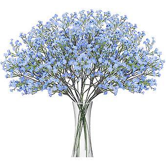 מלאכותי ג'יפסופילה זרי פרחים 12 יח ' מזויף פרחים מגע אמיתי עבור Diy חתונה קישוט הבית המפלגה כחול