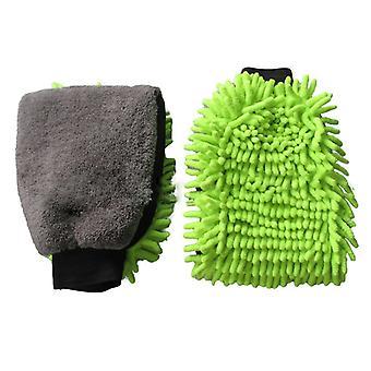 2 Pack Car Wash Mitt  - Large Size Microfiber Wash Mitt