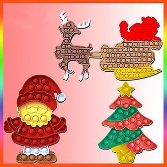 חג המולד לדחוף בועה זה פופ חושי פידג'ט פופר חמוד משחק מתנה לילד מבוגר