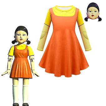 Halloween puku kalmari peli lasten naamio tyttö mekko