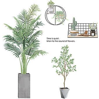 tropisk grønn vegg klistremerke hjem dekal (størrelse: 88cm x 81cm)