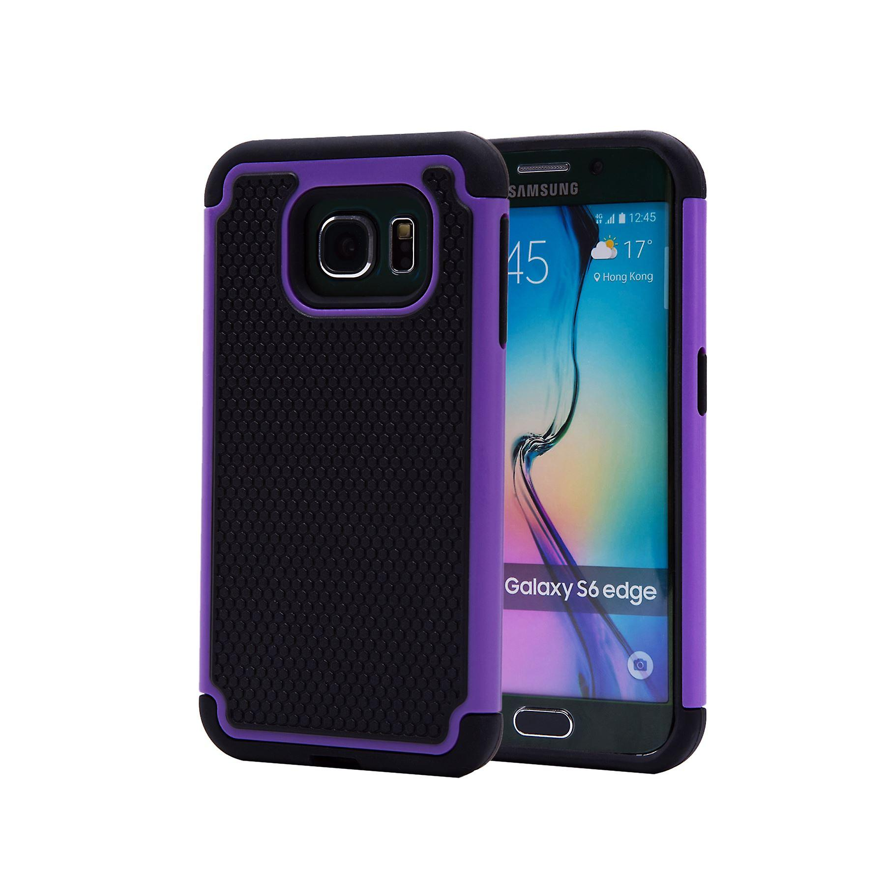 Shock proof case + stylus for Samsung Galaxy S6 Edge (SM-G925) - Purple