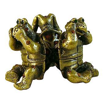 See No Hear No Say No Evil Turtle Trinket Box 931