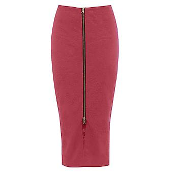 Get The Look Embossed Front Zip Skirt