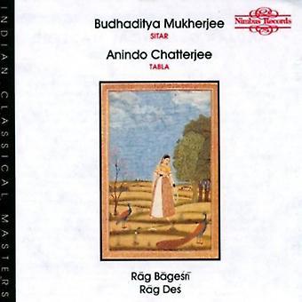 Budhaditya Mukherjee - importation USA Rag Bagesri/Rag Des [CD]