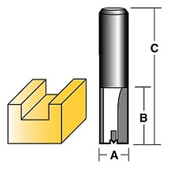 "Carbitool Straight Router Bit 13Mm Long 1/2"" Shank"