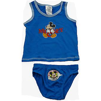 Disney Mickey Mouse ärmelloses T-shirt Boys / Weste & Slip Set