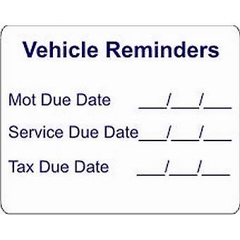 W4 Vehicle Reminders Sticker