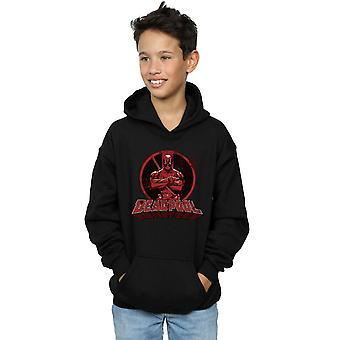 Marvel Boys Deadpool Crossed Arms Logo Hoodie