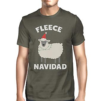 Fleece Navidad Mens Cool Grey Funny Christmas Gift For Dad Tee