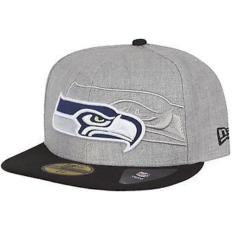 New Era 59Fifty Cap - SCREENING III Seattle Seahawks grau