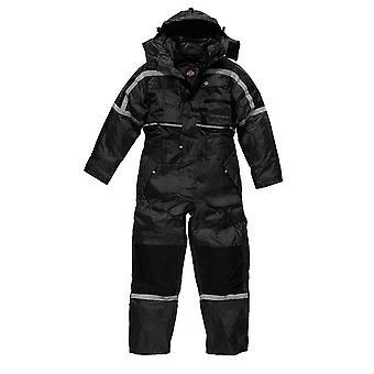 Dickies Herren Workwear wasserdicht gepolstert Overall schwarz WP15000B