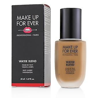 Make up para sempre Water Blend face & amp; Body Foundation-# Y445 (âmbar)-50ml/1.7 oz