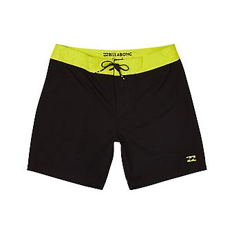 Billabong All Day OG Mid Length Boardshorts in Neo Lime