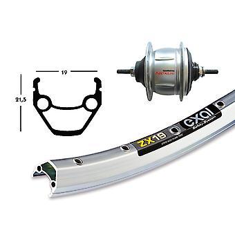 Pièces de vélo arrière 28″ Exal ZX 19 + moyeu-vitesses Shimano 8 vitesses