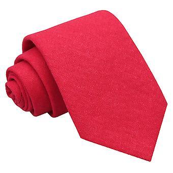 Rote Hobsack Leinen klassische Krawatte