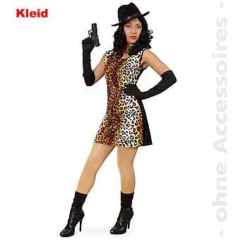 Lady Cat Luipaard gangster Lady kostuum Wildcat kostuum Luipaard kostuum