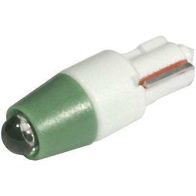 CML LED indicator light W2 x 4.6d Green 24 V DC, 24 V AC 1500 mcd 1511 A 35 UG3