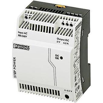 Phoenix Contact STEP-PS/1AC/5DC/6.5 Rail mounted PSU (DIN) 5 V DC 6.5 A 32.5 W 1 x