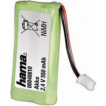 Akumulatory do telefonów bezprzewodowych Hama 40810 40810 nadaje się dla marek: Siemens Gigaset, Universum NiMH 2.4 V 550 mAh