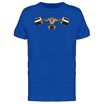 Gold Bull With Big Barbell Tee Men's -Image by Shutterstock