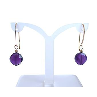 Amethyst earrings gemstone earrings Amethyst earrings gold plated