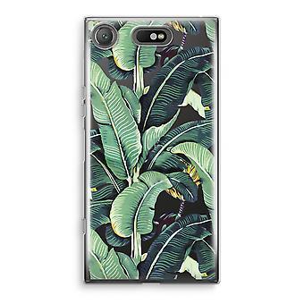 Sony Xperia XZ1 Compact Transparant cas (doux) - feuilles de bananier