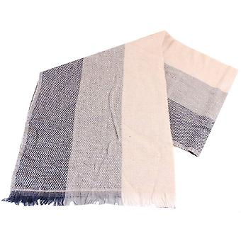 Bassin and Brown Magnolia Three Dot Stripe Scarf - Beige/Grey