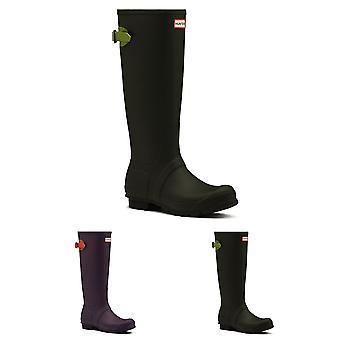 Womens Hunter Adjustable Back Snow Rain Wellies Rubber Waterproof Boots UK 3-9