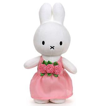 Pl. Miffy rosa Kleid und Röschen 24 cm