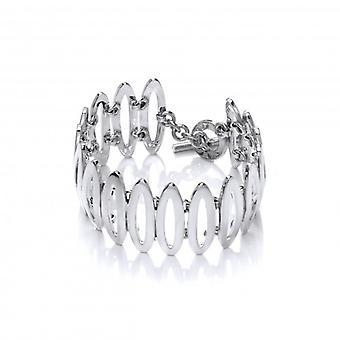 Cavendish francese ovali elegante bracciale in argento Sterling