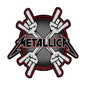 Metallica Patch metall horn bandet Logo offisielle nye svart kutt ut 10 cm x 9 cm