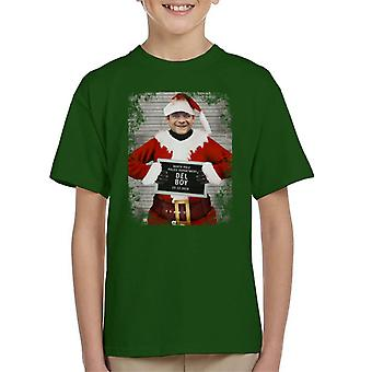 Christmas Mugshot Del Boy Kid's T-Shirt