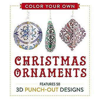 Cor de seus próprios enfeites de Natal: Dispõe de 50 projetos de Punch-Out 3D