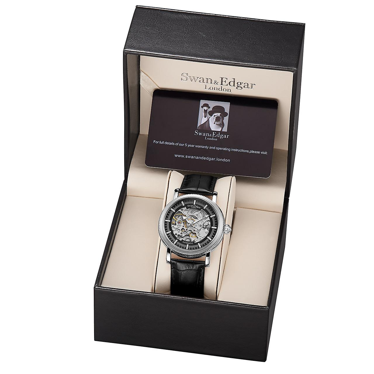 Swan & Edgar Skeleton Automatic Steel Mens Watch