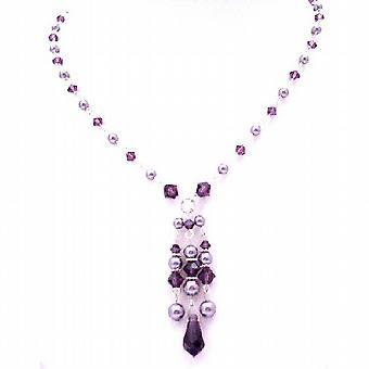 स्वारोवस्की संग्रह वेलेंटाइन उपहार फरवरी क्रिस्टल रंग Jewlery नीलम क्रिस्टल हार