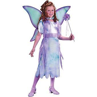 Farverige fe barn kostume