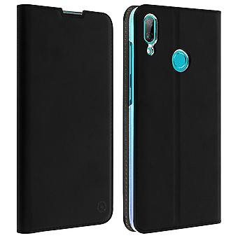 Muvit Huawei Y7 2019 Wallet Case Support Function Hard Shell Black