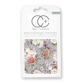 Craft Consortium Posy Decoupage Papers