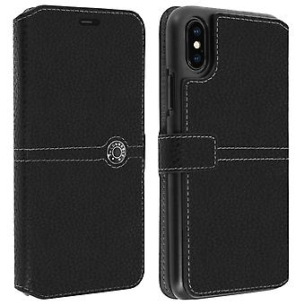 iPhone Case XS Max Flip Case Card Holder Textured Effect Façonnable Black