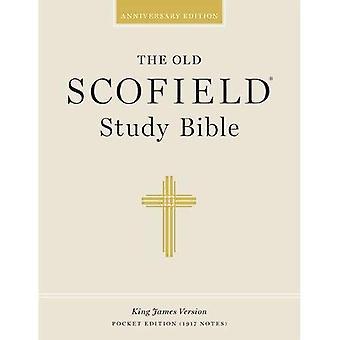 Antiguo estudio Scofield Biblia KJV-bolsillo