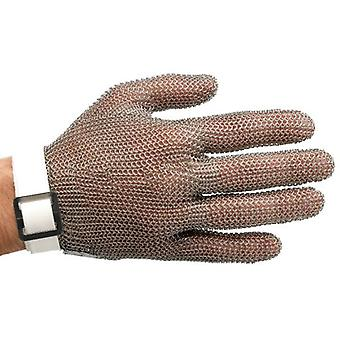 Manulatex Cinturino in cotone di metallo del macellaio di fibra ambidextrous S bianco