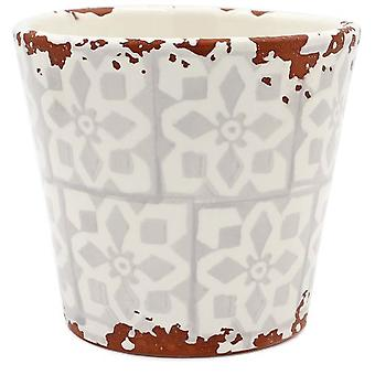 Eura Eura ceramic pot 14 x 12cm beige (Decoration , Plants and pots)