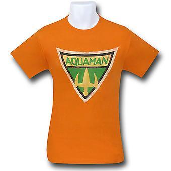 חולצת אקוומן אמיץ & סמל מודגש