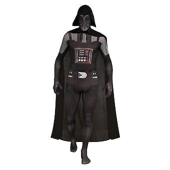 Mens Darth Vader Second Skin Star Wars Film & TV Fancy Dress Costume