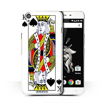 STUFF4 Case/Cover for OnePlus X/King of Spades/Playing Cards