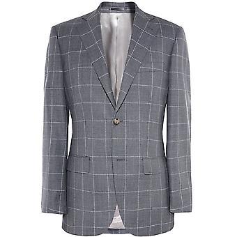 Jules B Slim Fit Wool Check Jacket